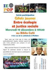 Rencontre participative : Gilets jaunes Entre écologie et justice sociale @ Biblio Café | Poitiers | Nouvelle-Aquitaine | France