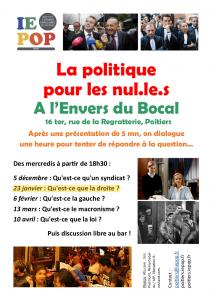 Qu'est-ce que la droite ? (La politique pour les nul·le·s) @ L'Envers du Bocal | Poitiers | Nouvelle-Aquitaine | France