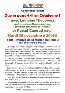 Que se passe-t-il en Catalogne ? @ Salle Timbaud de la Maison du Peuple | Poitiers | Nouvelle-Aquitaine | France