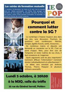 Pourquoi et comment lutter contre la 5G ? @ M3Q salle du Trèfle | Poitiers | Nouvelle-Aquitaine | France